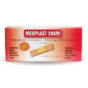 PANSAMENT 206 M MEDPLAST  2 x 6 cm, 20/200 buc, Mebra