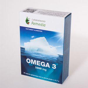 OMEGA 3 1000 mg, 30 capsule, Laboratoarele Remedia