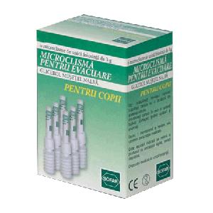 MICROCLISME DE EVACUARE PENTRU COPII, 6 buc x 3 g, Sofar