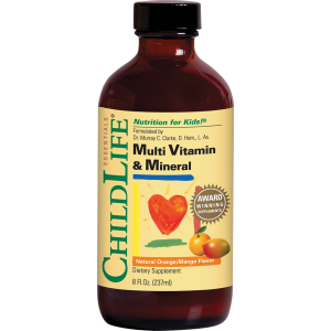 MULTI VITAMIN & MINERAL 237 ml (gust de portocale/mango), Child Life Essentials