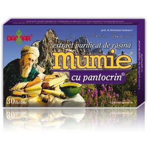 EXTRACT PURIFICAT DE RASINA MUMIE CU PANTOCRIN 30/60 tablete, Damar