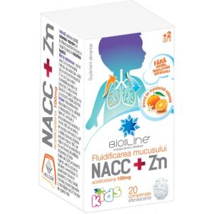 NACC + ZN KIDS, 20 comprimate efervescente, Ac Helcor