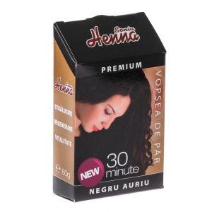 HENNA PREMIUM NEGRU AURIU - PULBERE 60 g, Sonia Henna