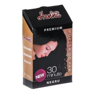 HENNA PREMIUM NEGRU - PULBERE 60 g, Sonia Henna