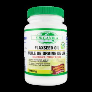 OMEGA 3 - ULEI DE IN CANADIAN (FLAXSEED OIL) 1000 mg, 90 capsule gelatinoase, Organika