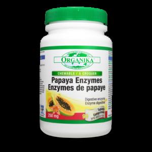 ENZIME DIN PAPAYA (Papaina), 90 tablete masticabile, Organika