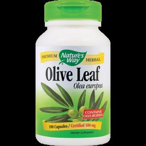 OLIVE LEAF SE 20% (FRUNZE MASLIN) 500 mg, 100 capsule, Nature's Way