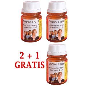 OMEGA 3 Q10, 30 comprimate, 2+1 GRATIS, Ac Helcor