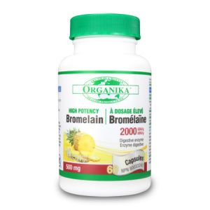 BROMELAINA 600 mg, 60 tablete, Organika