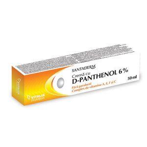 CREMA PANTHENOL FORTE 6% - SANTADERM 50 ml, Vitalia Pharma