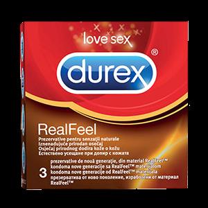 PREZERVATIVE REAL FEEL, 3 buc, Durex