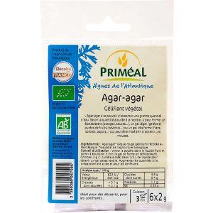 AGAR AGAR - PUDRA DE ALGA BIO 6 x 2 g, Primeal