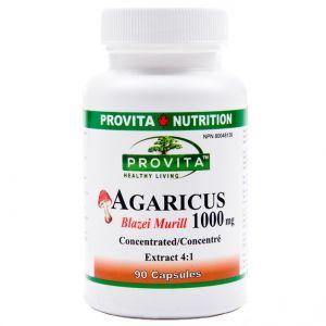 AGARICUS BLAZEI MURILL 1000 mg, 90 capsule, Provita Nutrition