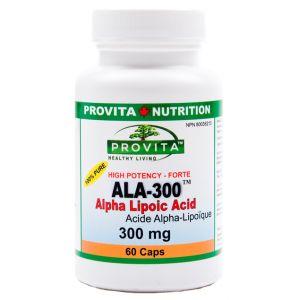 ALA-300 FORTE - Acid Alpha Lipoic 300 mg, 60 capsule, Provita Nutrition