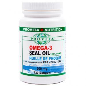 OMEGA 3 ULEI DE FOCA 500 mg, 120 capsule moi, Provita Nutrition
