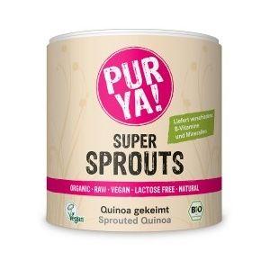 SUPER SPROUTS QUINOA GERMINATA RAW BIO, 220 g, Pur Ya!