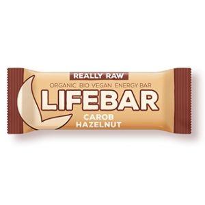 BATON CU ALUNE SI CAROB LIFEBAR RAW BIO 47 g, Lifefood