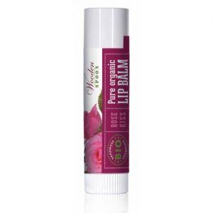 BALSAM DE BUZE ROSE KISS BIO, 4.3 ml, Wooden Spoon