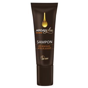 SAMPON CU KERATINA ARGAN PLUS 40 ml, Farmec