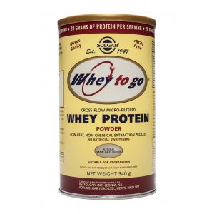WHEY TO GO PROTEIN VANILLA - PULBERE 340 g, Solgar
