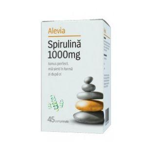 SPIRULINA 1000 mg, 45 comprimate, Alevia