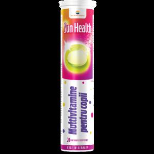 MULTIVITAMINE SI MINERALE PENTRU COPII - SUN HEALTH , 20 comprimate efervescente, Sun Wave Pharma