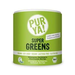 SUPER GREENS RAW BIO 150 g, Pur Ya!