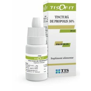 TINCTURA DE PROPOLIS 30%, 25 ml, Tis Farmaceutic
