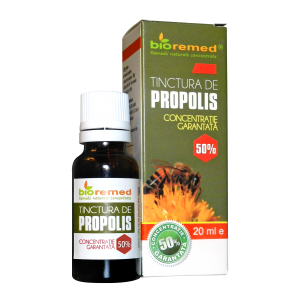 PROPOLIS CONCENTRATIE 50%, Tinctura 20 ml, Bio Remed