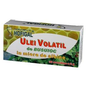 ULEI VOLATIL DE BUSUIOC IN MIERE, 30 monodoze a 2 ml, Hofigal