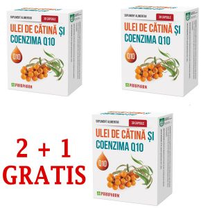 ULEI DE CATINA SI COENZIMA Q10, 2+1 GRATIS, 30 capsule, Parapharm