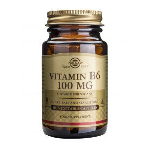 VITAMIN B6 100 mg, 100 capsule, Solgar