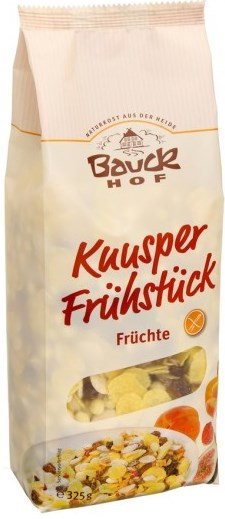 MUSLI CROCANT CU FRUCTE - FARA GLUTEN 325 g, Bauck Hof