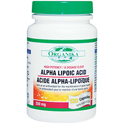 ACID ALFA LIPOIC 250 mg, 60 capsule, Organika
