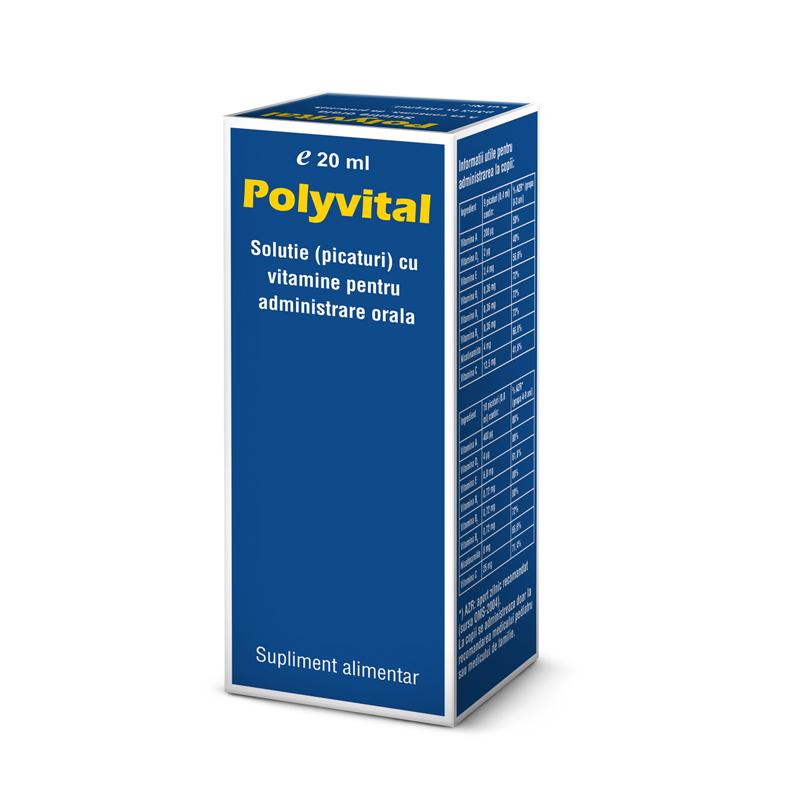 POLYVITAL SOLUTIE (PICATURI) 20 ml, Pharco Impex