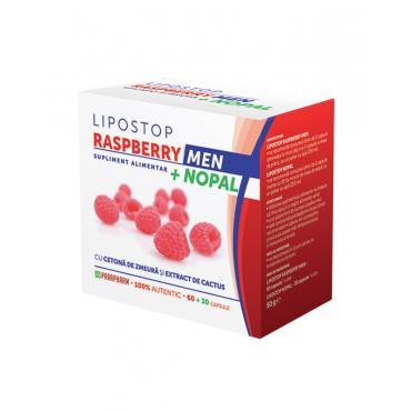 LIPOSTOP RASPBERRY MEN + NOPAL, 60+30 capsule, Parapharm