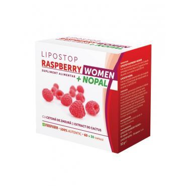LIPOSTOP RASPBERRY WOMEN + NOPAL, 60+ 30 capsule, Parapharm