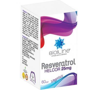 RESVERATROL 25 mg, 60 comprimate, Ac Helcor