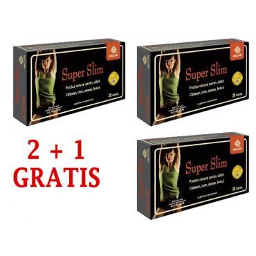 SUPER SLIM 30 comprimate, 2+1 GRATIS, Ac Helcor