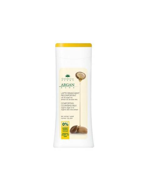 LAPTE DEMACHIANT RECONFORTANT CU ULEID E ARGAN BIO, 200 ml, Cosmetic Plant
