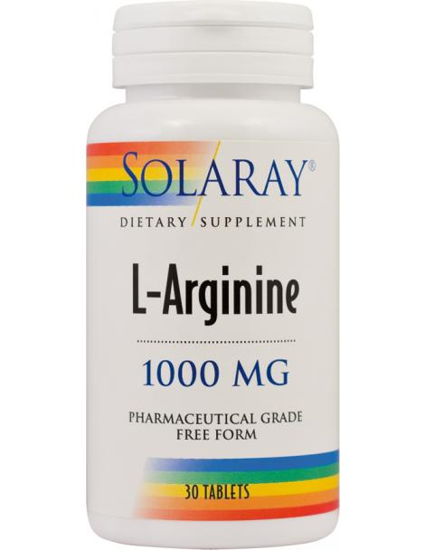 L-ARGININE 1000 mg, 30 tablete, Solaray